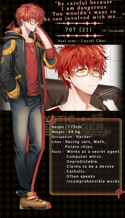 Image result for mystic messenger character profile