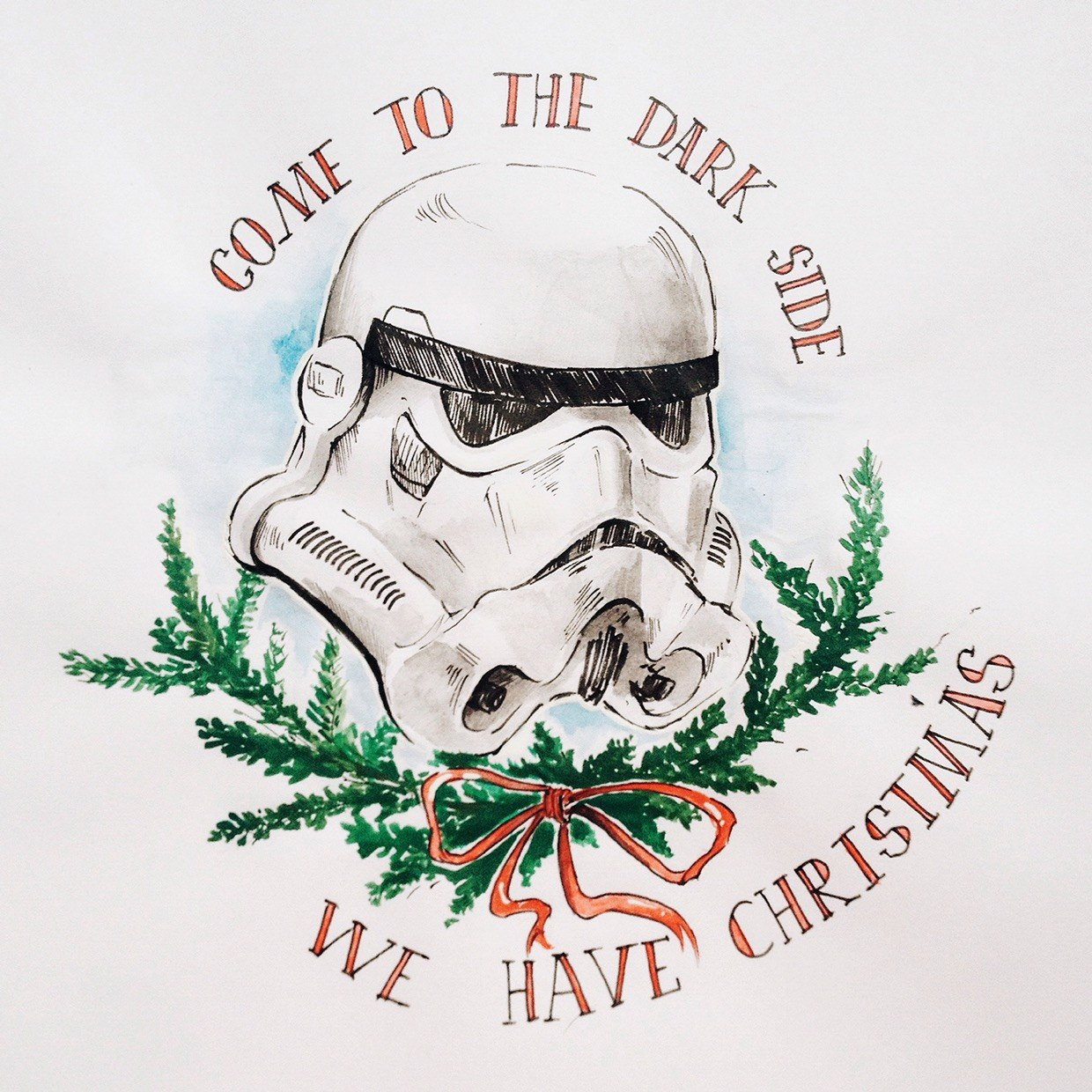 TieFighters Stormtrooper Christmas Card Created By Ira