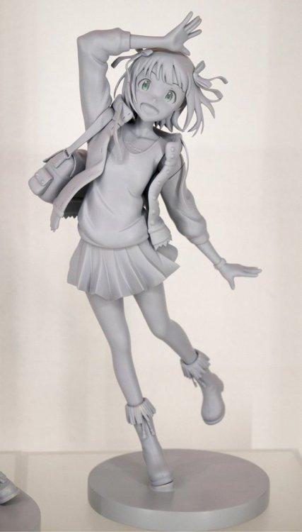 同じくアイマスジャケットイラストシリーズの天海春香原型! 765PMで発表した春香さんが早くも原型展示! そしてついに完走ということでもあります!