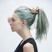 light green hair
