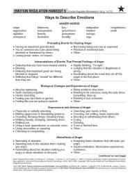 Emotion Regulation Worksheet. Worksheets. Ratchasima
