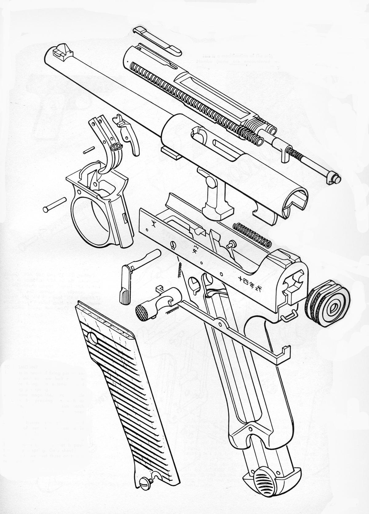 Cutaway Of The Day Nambu Type 14 The Type 14