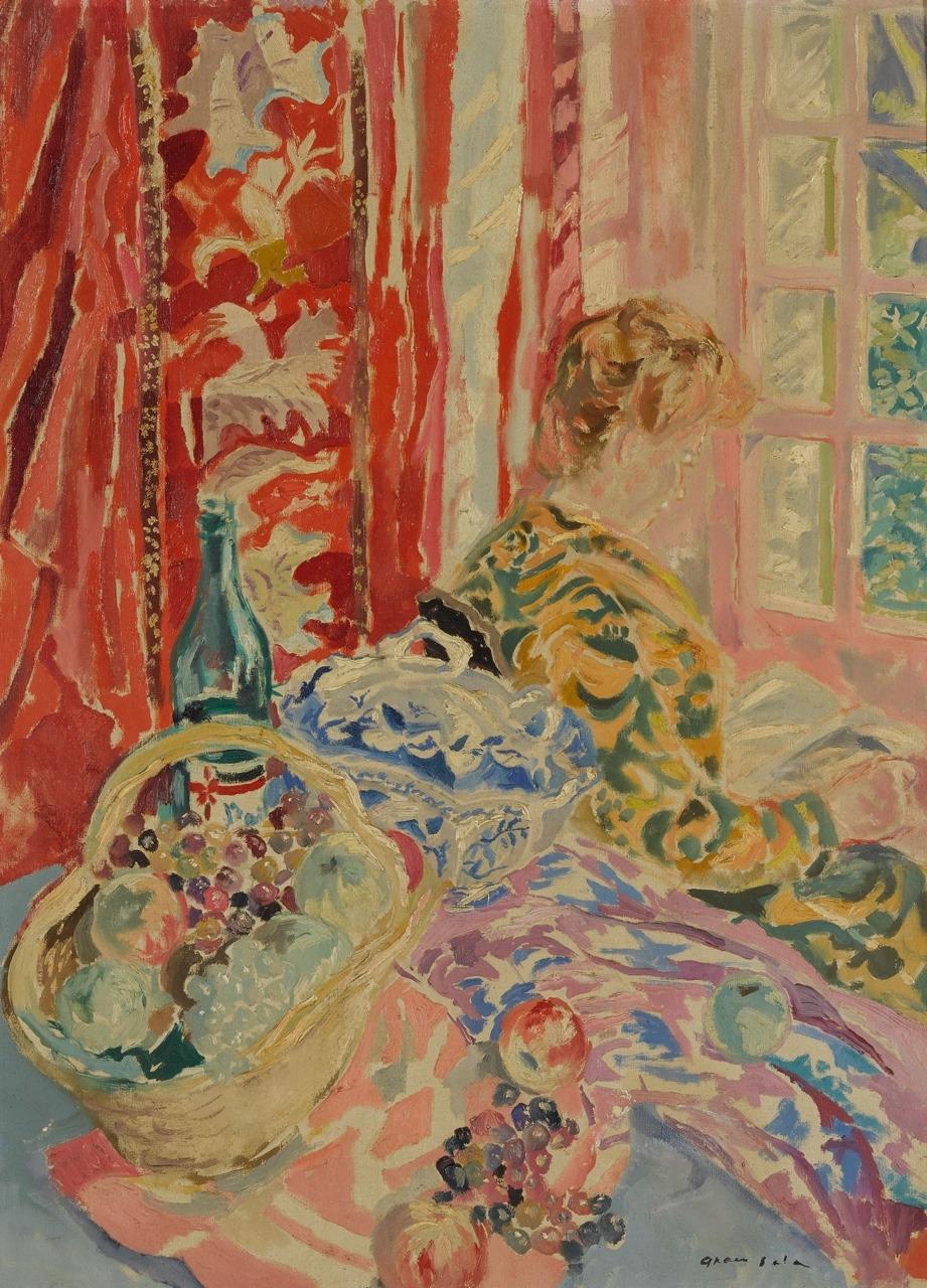"""amare-habeo: """" Emilio Grau Sala (Spanish-French, 1911-1975) Woman at window (Femme près d'une fenêtre), N/D Oil on canvas, 73 x 54 cm """""""