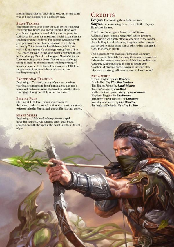Dnd 5e Classes Ranger - Year of Clean Water