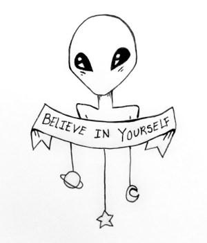drawing ufo yourself believe