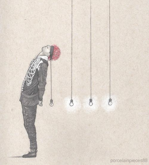 lightbulb art Tumblr