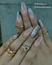 glitter nails on Tumblr