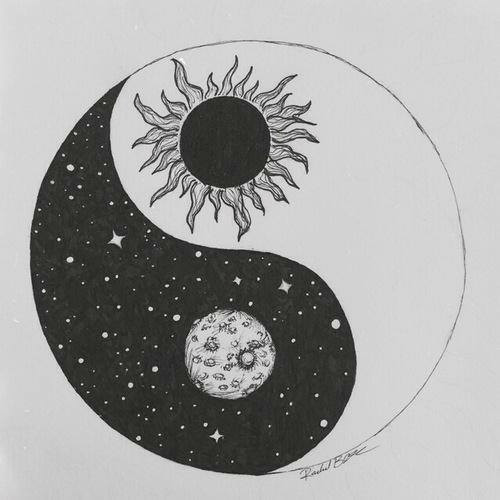 yin yang drawing Tumblr