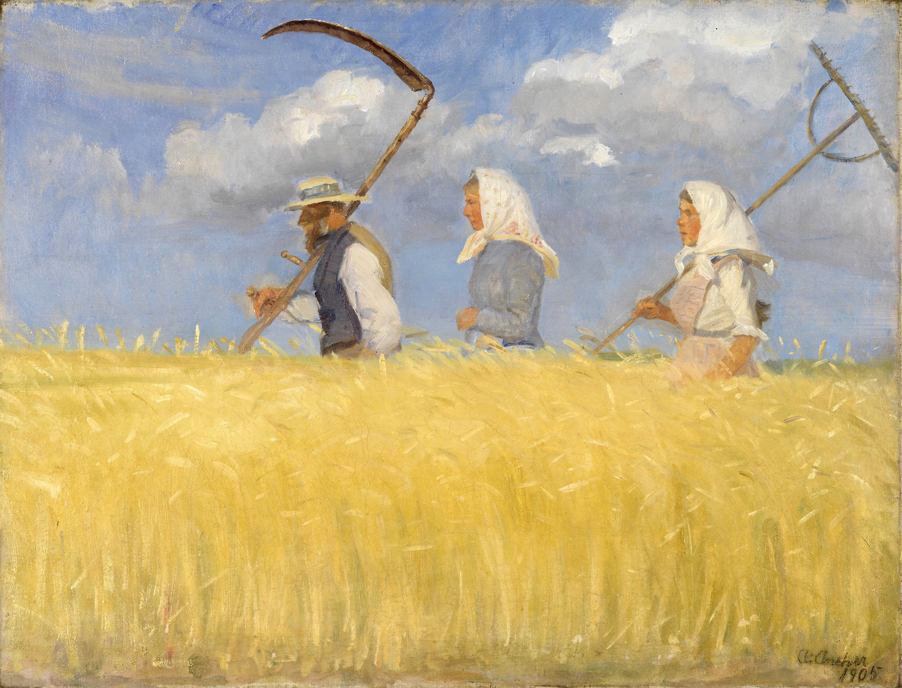 """urgetocreate: """"Anna Ancher, Harvesters, 1905 """""""