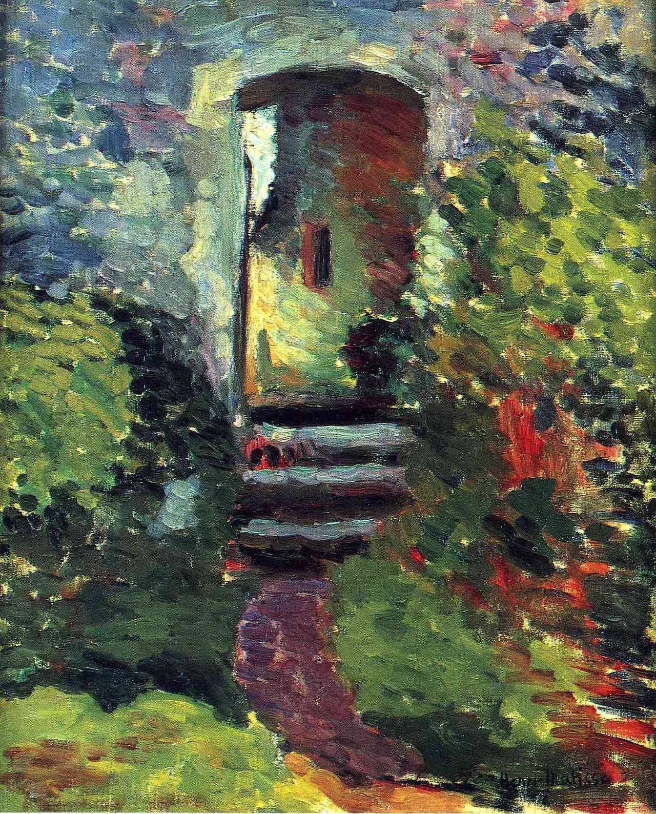 "artist-matisse: "" The Little Gate of the Old Mill via Henri Matisse Medium: oil on canvas"""