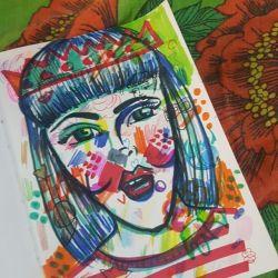 Doodling ugly ladies #doodles #artwork #art #illustration #comic #cartoon #draw #inkpen #inkdrawing #arty
