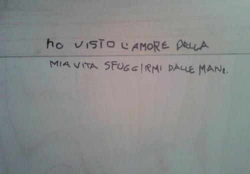 scritte sui muri on Tumblr