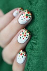 christmas nail art on Tumblr