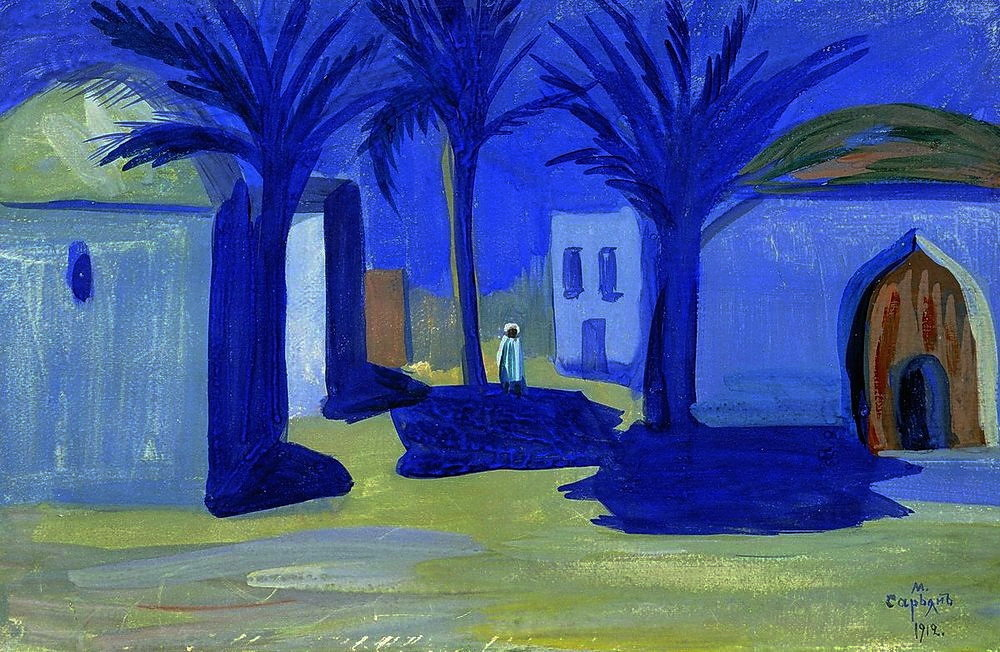 "art-pickings: ""Martiros Sarian (Armenian, 1880-1972) Egyptian night, 1912 Oil painting """