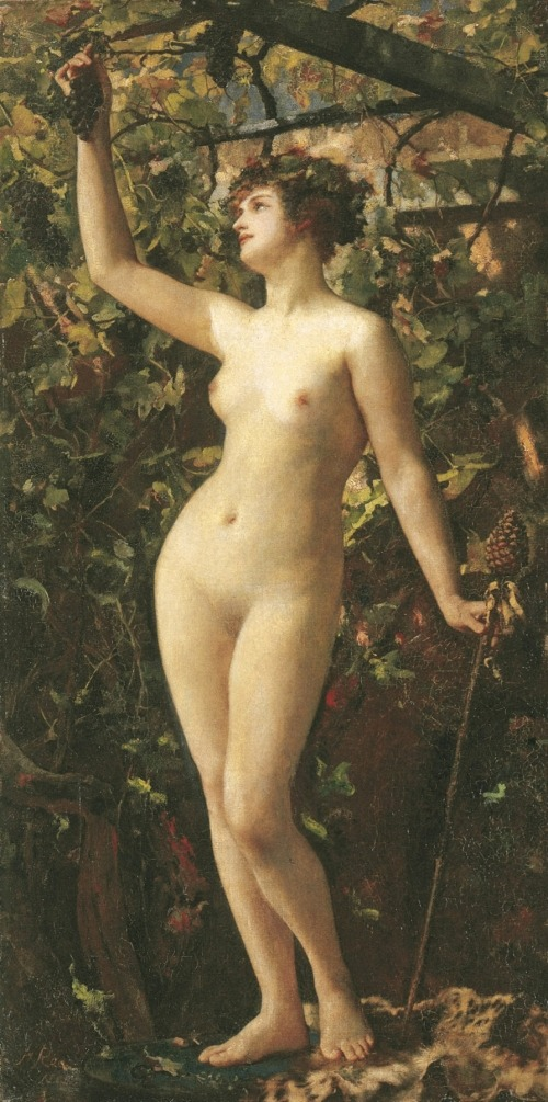Henrietta Rae, A Bacchante, 1885