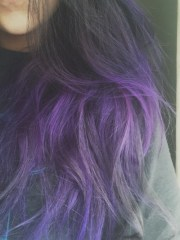 purple dyed tips