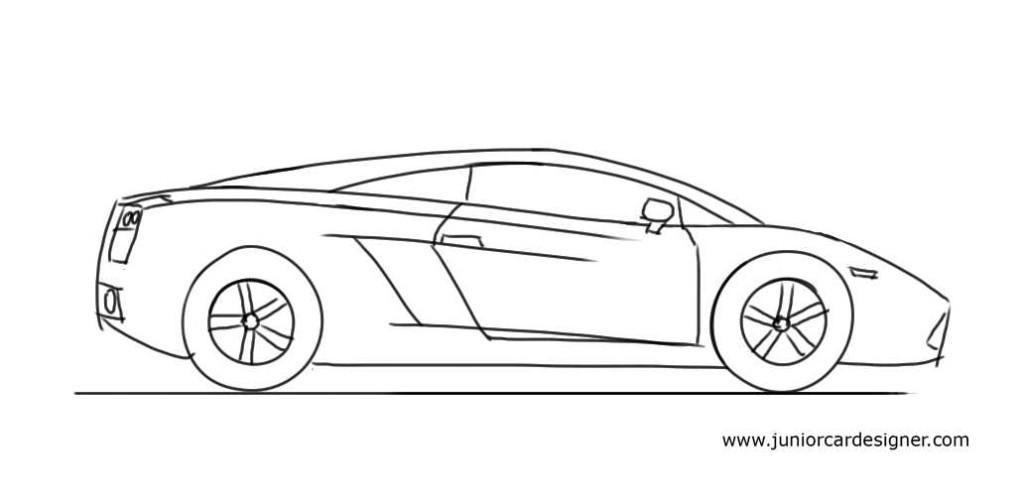 Junior Car Designer — How to Draw A Lamborghini Gallardo