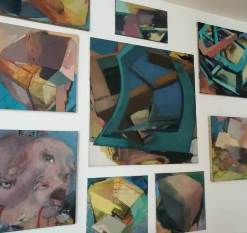 #Studio #EggtemperaOil #oiloncanvas #oilpainting #instaart #painting #contemporaryart #peinture #fineart #berlinart #christophkern #malerei #2017 #contemporarypainting #abstractart