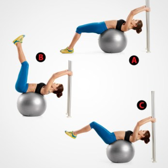 Image result for STABILITY BALL REVERSE LEG LIFTS