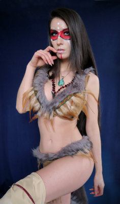 Sexy Forsworn Skyrim Cosplay by Beaupeep101  Check out http://hotcosplaychicks.tumblr.com for more awesome cosplay