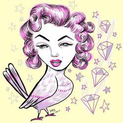 A Marilyn mockingbird #digitalart #drawing #illustration #drawdrawdraw #sketch #doodle #doodlesofinstagram #arty #perthcreatives #perthartist #mood #marilynmonroe #art