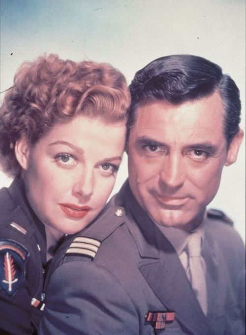 Ann Sheridan and Cary Grant in a publicity still for I Was a Male War Bride (1949)