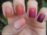 fall nail challenge - ombre