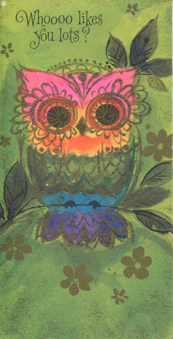 Thegroovyarchivesvintage hallmark happy birthday owl greeting