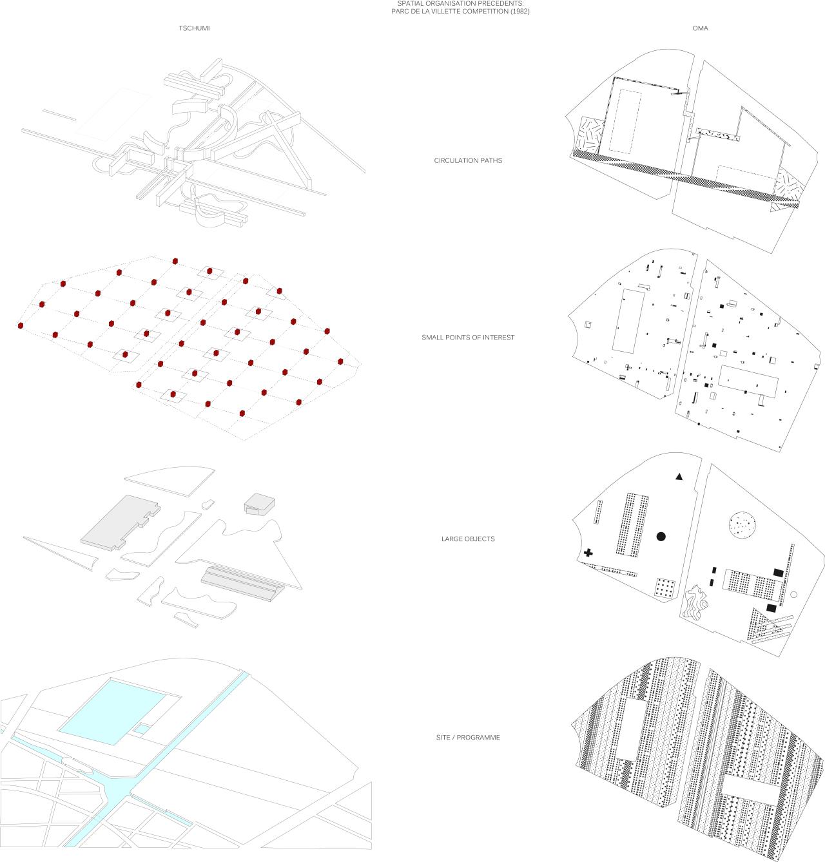 oma parc de la villette diagram simplex conventional smoke detector wiring architectural drawings models photos etc