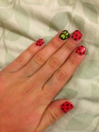 ladybug nail art | Tumblr