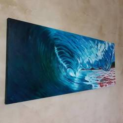 Ready for this commission to be handed over! This is my first big attempt at using oils. I'm quite happy with results, but I still have a way to go to before I master this medium… But I have the time and look forward to doing lots more!..........#waves #surf #painting #waveart #perthcreatives #perthartist #oceanart #seascape #oceanscene #gasbombgirl #visualart #waart #perthcreates #perthartscene #perthstagram #perthisok #perthstyle #oilpainting #surfing #greenroom #painting   (at Perth, Western Australia)