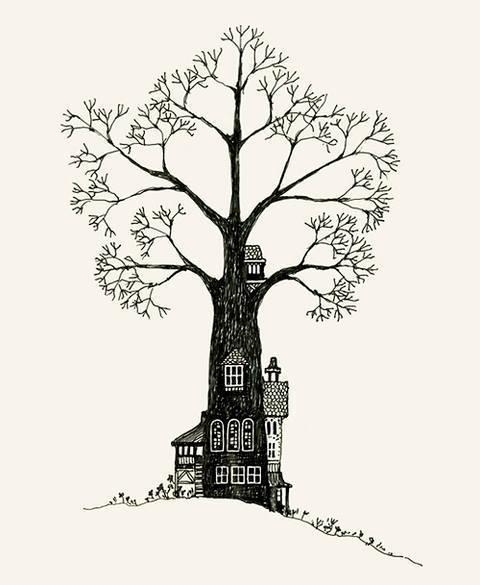 black and white tree on Tumblr