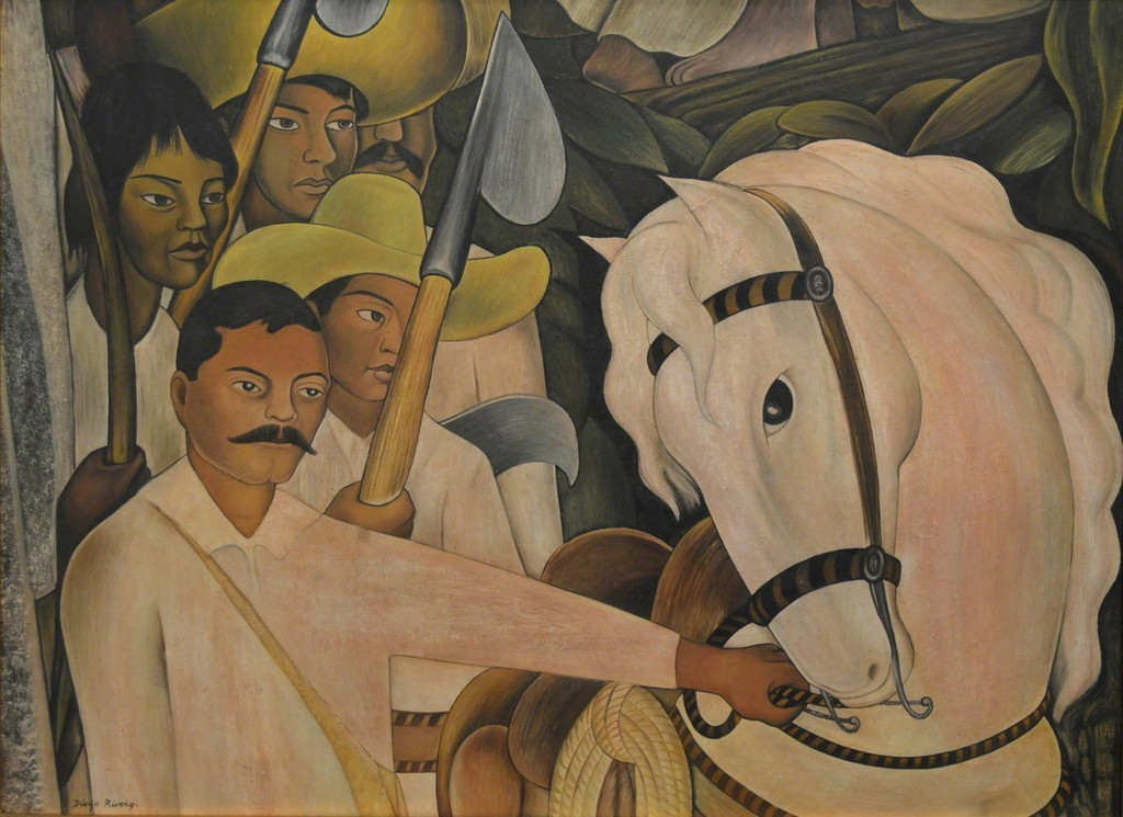 "themodernartists: ""Diego Rivera (1886-1957), Ensayo para Mural, 1930. Oil on masonite. """