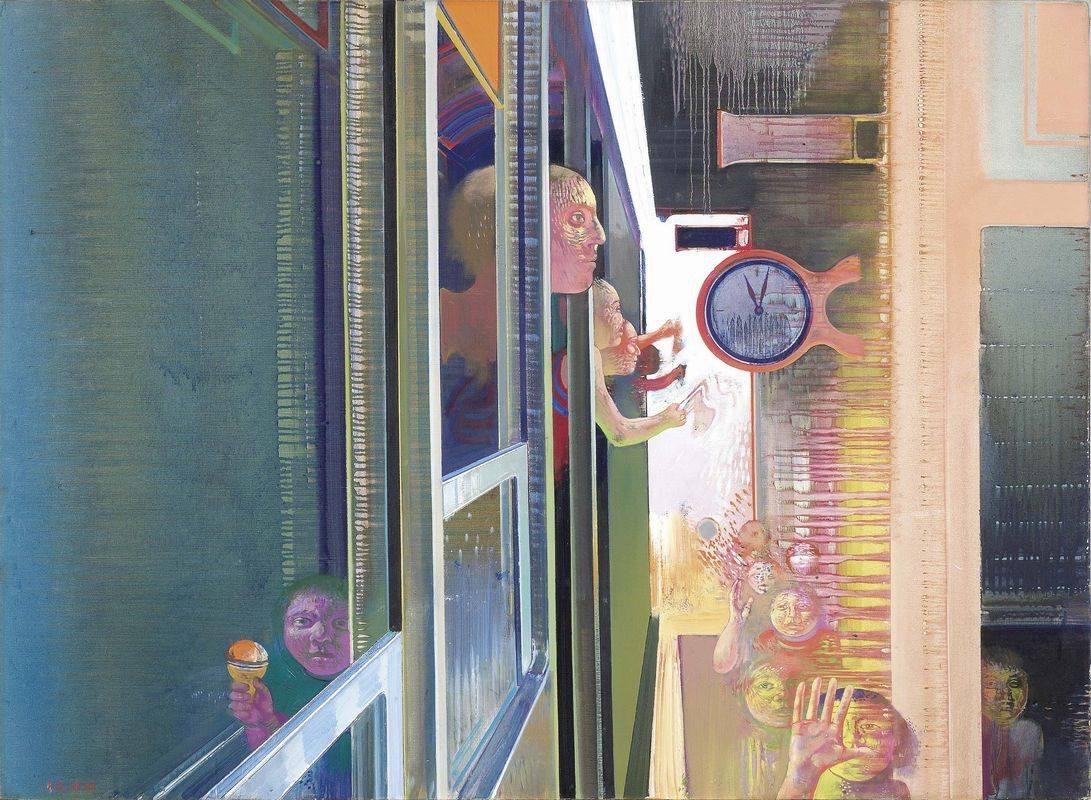 """terminusantequem:""""Leonardo Cremonini (Italian, 1925-2010), Le départ , 1972–73. Oil on canvas, 97.5 x 133 cm (38.4 x 52.4 in.)"""""""