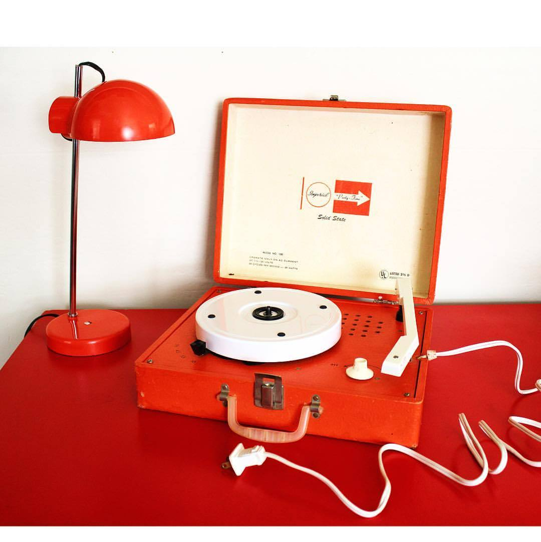 Orange Party Time Solid State Portable Record