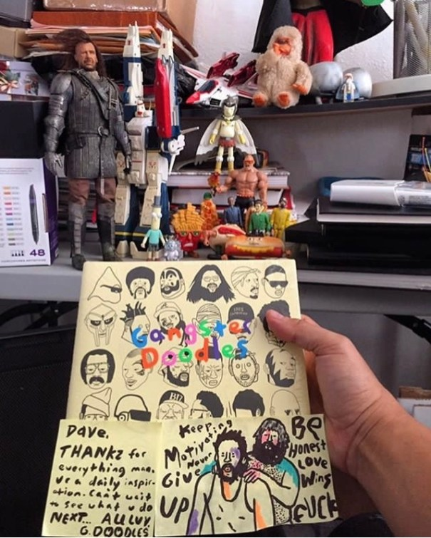 1a40853696 davidchoe got his Gangster Doodle Book.BUY HERE – Doodle