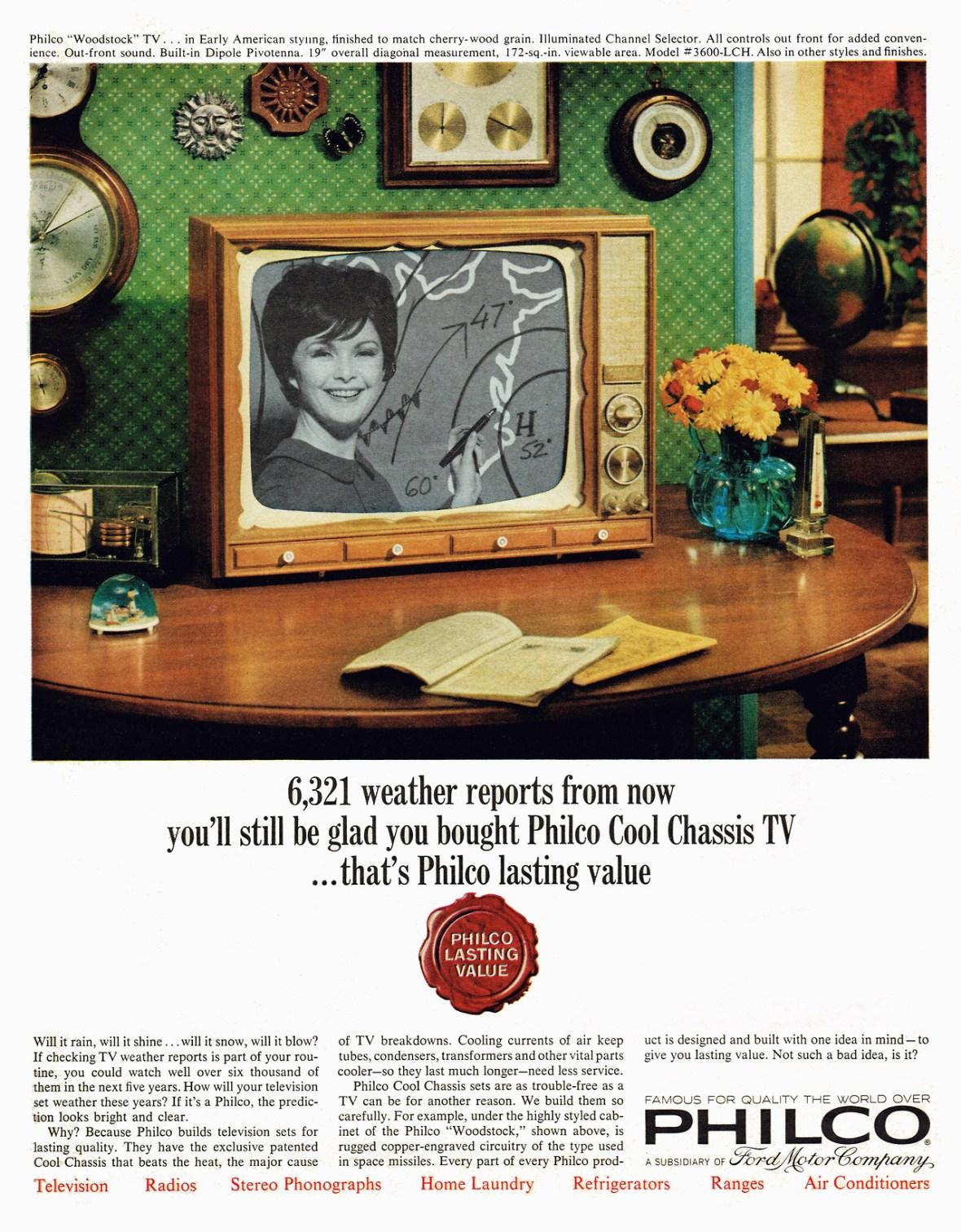 Philco 'Woodstock' television - 1964