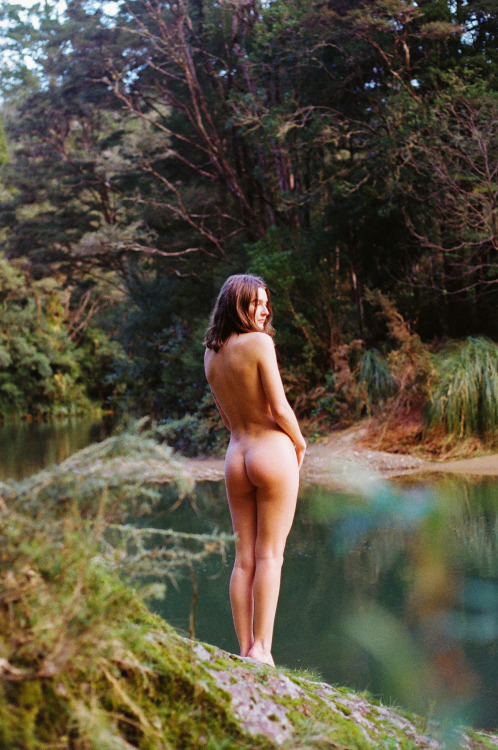 Lovely and nude in the outdoors.