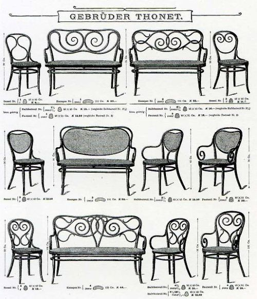 Design is fine. History is mine. — Thonet Catalogue, 1904