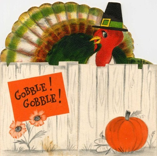 Thanksgiving greeting card - date unknown