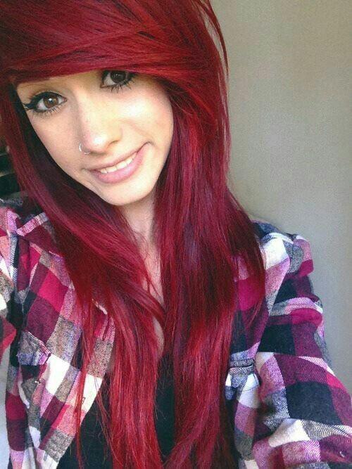 Red Scene Hair Tumblr