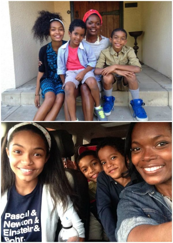Actress Yara Shahidi And Family Nas