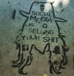 Truth on a downtown LA pathway #streetart #socialmedia #art #graffiti #whoops #losangeles #word #MrBig (at Los Angeles, California)