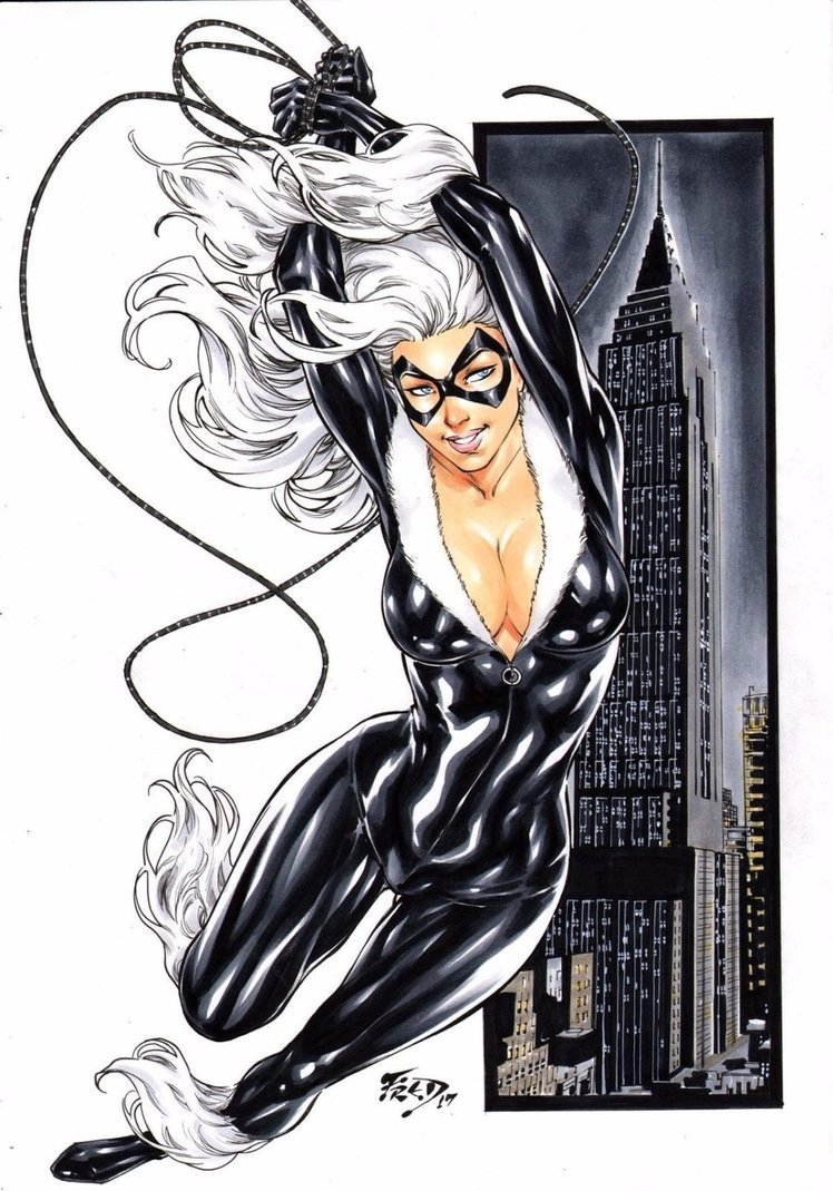 Black Cat by Fred Benes – Comics