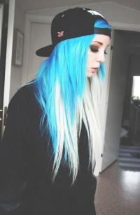 multi colored hair on Tumblr