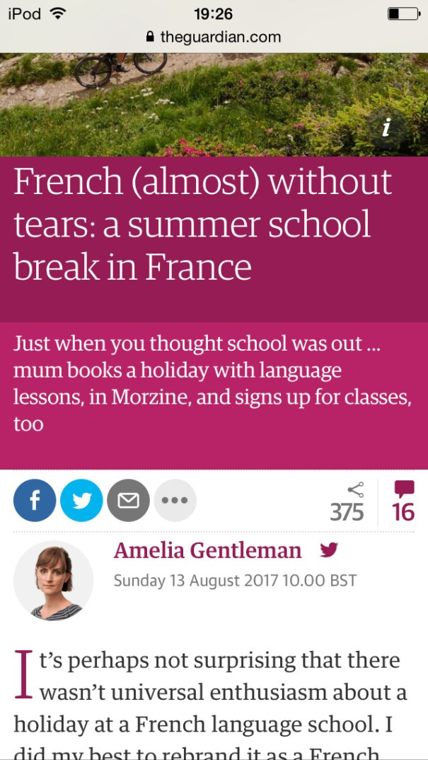 A sweet article by Amelia Gentleman, Guardian columnist and