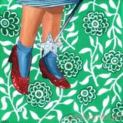 """Dorothy"" an oldie but a goodie ! #Art #wizzardofOz #painting #perthcreatives #perthartist #illustration #acrylicpainting #dorothy #patterns"