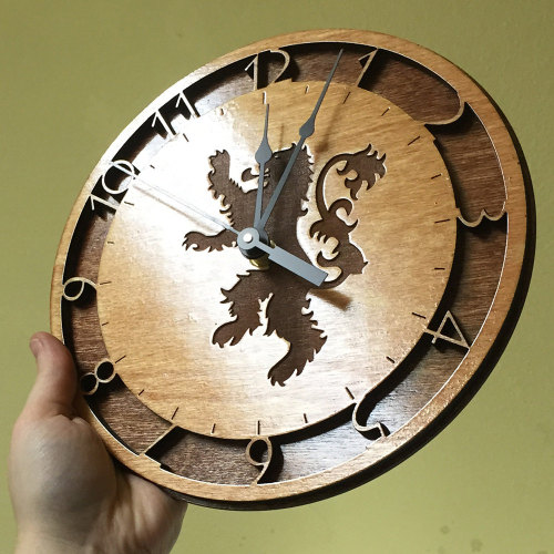 Game of Thrones LaserCut Wall Clocks Created by
