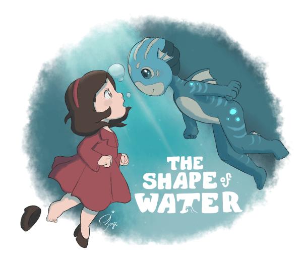 l8enji:Ponyo / The Shape of Water – Glamrock