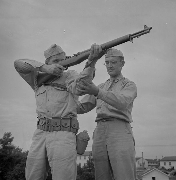Marksmanship training, 1942 via reddit – History